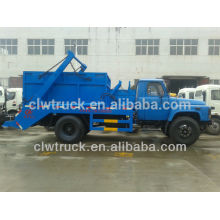 Dongfeng 140 6m3 garbage truck for sale,container garbage truck