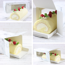 Marble pattern swiss roll cake box al por mayor