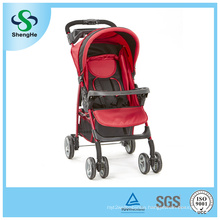 Foldable Baby Stroller with Adjustable Backrest Big Basket and Dinner Plate (SH-B12)