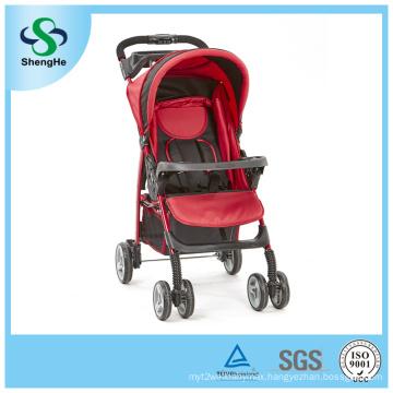 Foldable Baby Stroller with Adjustable Backrest Big Basket and Dinner Plate (SH-B12)