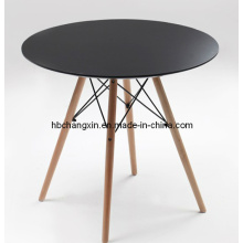 Hot Selling High Quality Wood Leg PE Table