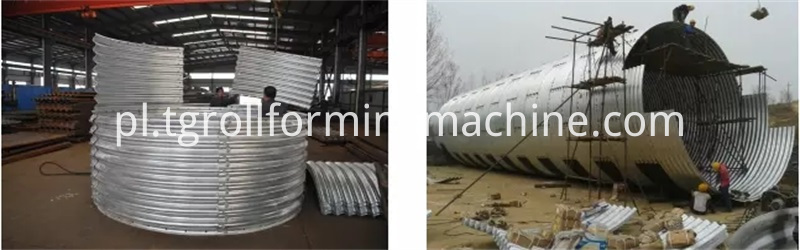 Culvert Pipe Roll Forming Machine Galvanized Steel Culvert Pipes