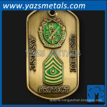 customize metal dog tag, custom high quality Minted dog tag