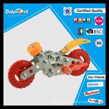 Brinquedos de metal de tijolo de diy brinquedo auto montar brinquedos