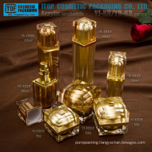 New arrival very beautiful and elegant luxury 100% quality guarantee square acrylic jars and bottles cosmetic packaging