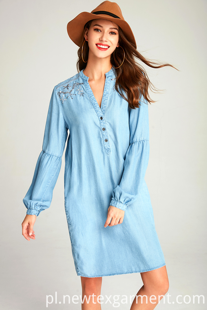 LADIES DENIM DRESS