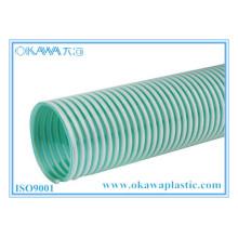 Tuyau d'aspiration de couleur vert PVC clair pour le transport agricole