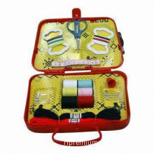 Fashionable Design Sewing Kit, Composed of Box, Steel File, Pins, Needles, Threads, Buttons and Rule