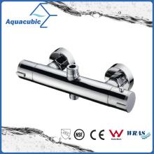 Grifo termostático de pared de latón para el baño