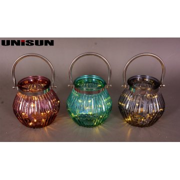 Furniture Decoration Light Glass Craft with Copper String LED Lighting (9102)