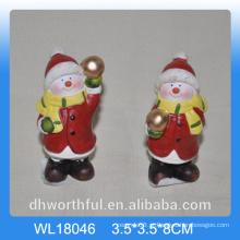 Popular boneco de neve de cerâmica para decoração de Natal