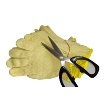 Seamlss Knitted Aramid Anti-cut para guantes de cuchillo