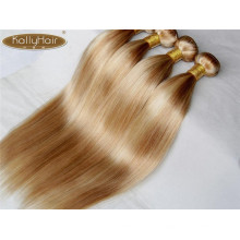 remy human hair Piano color two tone silky straight hair weave bundles