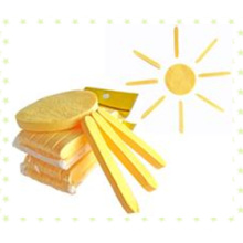 Желтая лицевая губка обжатая чисткой / естественная слойка губки целлюлозы