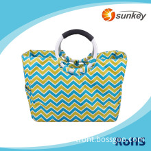Wholesale folding reusable shopping bags with handle