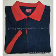 T-shirt dos homens do algodão da promoção, camisa polo