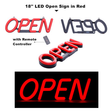 18 '' Red Open Sign Light LED para Tienda