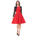 Belle Poque Red Color Pin Up Vestidos Retro Casual Party Robe 50s Vintage Dress Women Summer Dress BP000091-2