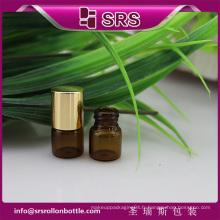 SRS pas de fuite vide 1 ml 2 ml de rouleau de verre mini couleur ambré sur des bouteilles d'huile