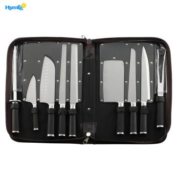 Professional 9piece Chefs Kitchen Knife Set in Case