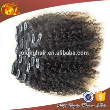 Hot sale hight quality products afro hair clip in extensions