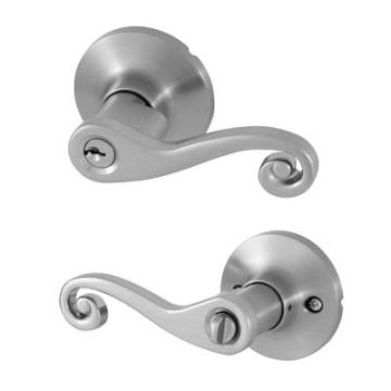 Scroll Satin Nickel Passage Lever