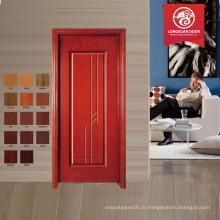 Conception simple porte MDF porte en bois bois de teck porte principale