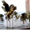 Benutzerdefinierte Lebensgröße oder große Größe Messing Pferd Statue