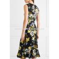Floral-Print Multi couleur sans manches Midi Summer Daily Dress Fabrication en gros Mode Femmes Vêtements (TA0005D)