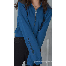Nouveaux sweats à capuche zippés à la mode avec trois couleurs