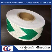 Grünes und weißes Pfeil-Sicherheits-reflektierendes Material-Band für Auto