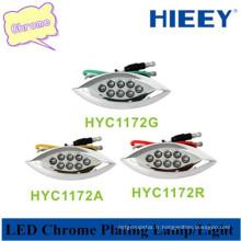 Plafonnier chromé LED pour lampe auto décorative