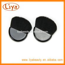 Kostenlose Probe Nylon schwarz Mini kompakt Haarbürste für Make up