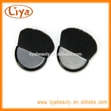 Free sample nylon hair black mini compact brush for make up