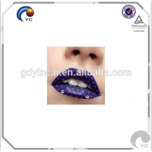 Lippe temporäre Tätowierung Aufkleber Design mit niedrigem Preis