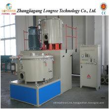 Unidad de mezcla de plástico, mezclador de polvo de PVC de plástico, mezclador de alta velocidad de PVC