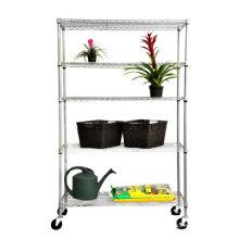 Estante ajustable al aire libre del estante de la flor del jardín del metal de DIY, aprobación de NSF