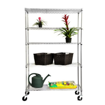 Outdoor Adjustable DIY Metal Garden Flower Shelf Rack, NSF Approval