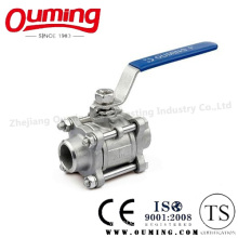 3PC Stainless Steel Butt Welding Ball Valve with Handle