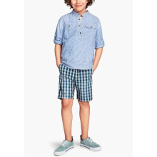 Boys' short sleeve stripe pullover shirt