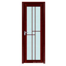 Personalización parrilla diseño inodoro marco aluminio aluminio vidrio esmerilado puerta