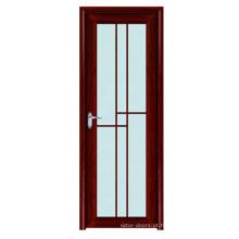 Customização grade design higiênico porta de vidro fosco moldura de alumínio
