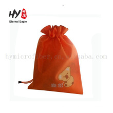 120gsm pretty thick non woven collapsible drawstring bag