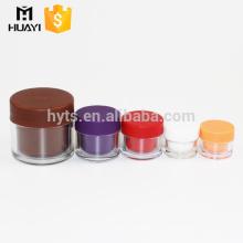 En gros coloré détachable double paroi pot en plastique avec différentes tailles