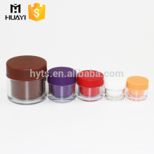 wholesale colorful detachable double wall plastic jar with different size