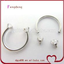 Nouvelle arrivée en acier inoxydable fer à cheval corps piercing bijoux nez anneau