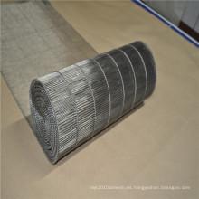 Cinta transportadora de malla de alambre de acero inoxidable con escalera