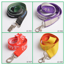 Factory custom woven lanyards no minimum order