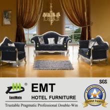 Ensemble de canapé salon de salon en tissu de luxe (EMT-T89)