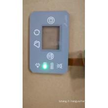 bouton-poussoir étanche LED interrupteur à bouton tactile à membrane